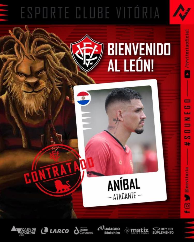 Aníbal Vega já atuou pelo Leão nas categorias de base | Foto: Divulgação | E.C.Vitória - Foto: Divulgação | E.C.Vitória