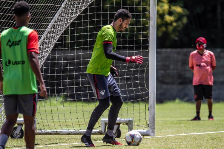 Goleiro se recuperou após lesão na coxa | Foto: Letícia Martins | E.C.Vitória - Foto: Letícia Martins | E.C.Vitória