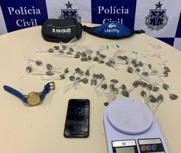 Homem capturado é um dos internos que fugiram do Conjunto Penal Masculino da Mata Escura, no último domingo - Foto: Divulgação | SSP
