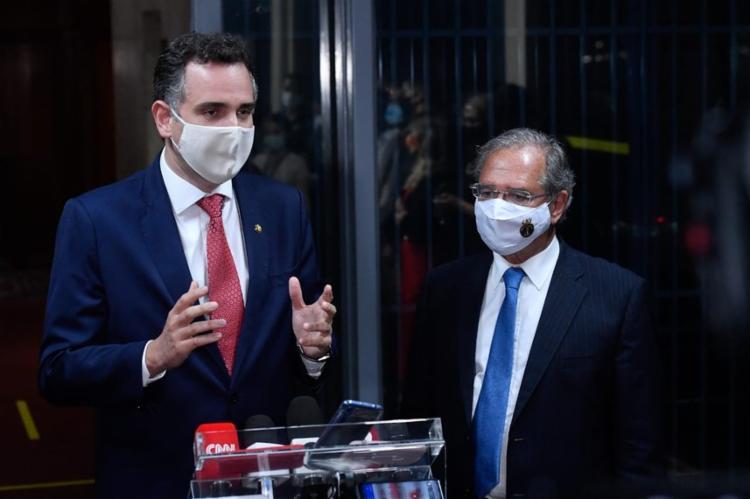 Guedes quer prorrogação do auxílio emergencial com alguma contrapartida | Foto: Marcos Brandão | Senado Federal. - Foto: Marcos Brandão | Senado Federal