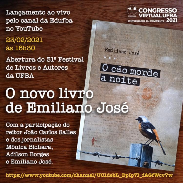 Cartza de lançamento do novo livro de Emiliano