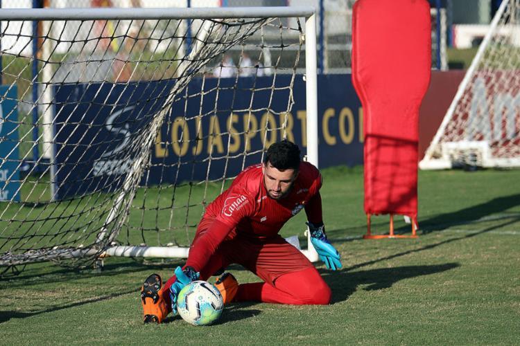 Goleiro está recuperado de lesão na coxa | Foto: Felipe Oliveira | EC Bahia - Foto: Felipe Oliveira | EC Bahia