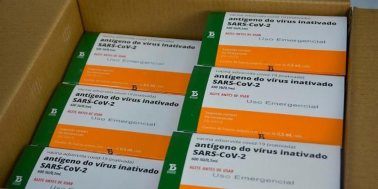 Brasil recebeu 1,2 milhão de doses do imunizante e outros 2 milhões de unidades da vacina de Oxford/AstraZeneca - Foto: Reprodução