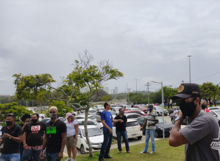Motoristas reinvidicam tarifas promocionais dos aplicativos   Foto: Cidadão Repórter   via WhatsApp - Foto: Cidadão Repórter   via WhatsApp
