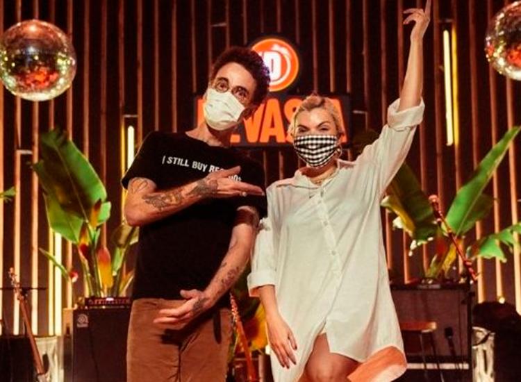 Nando Reis e Duda Beat lançaram EP com músicas tocadas em live no ano passado | Foto: Reprodução | Instagram - Foto: Reprodução | Instagram