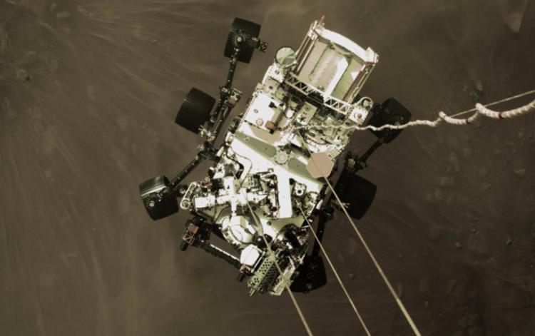 Fotos em alta resolução mostram os últimos 20 metros da descida - Foto: Divulgação | NASA