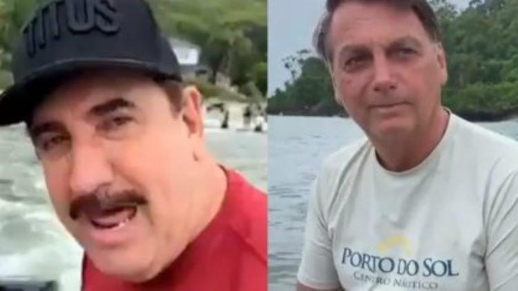 """Como forma de agradecimento, Bolsonaro compartilhou o vídeo com a opinião de Ratinho no Twitter e escreveu na legenda do post: """"Uma visão da política nacional"""" I Foto: Reprodução - Foto: Reprodução"""