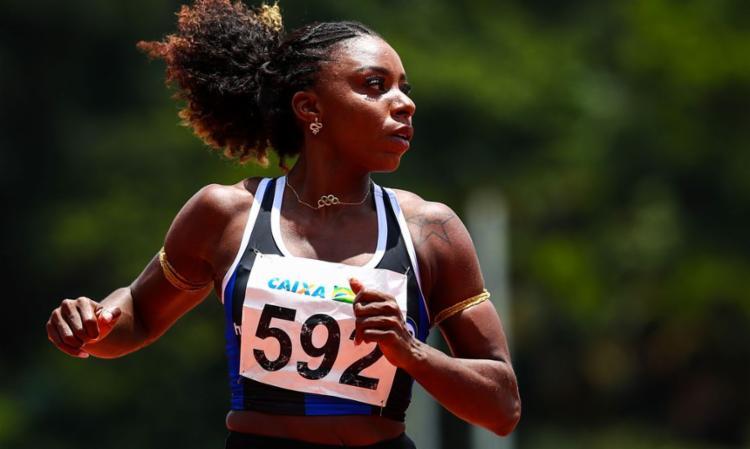 Nos 60 metros rasos, brasileira foi a segunda mais rápida com 7s17 | Foto: Wagner Carmo | CBAt - Foto: Wagner Carmo | CBAt