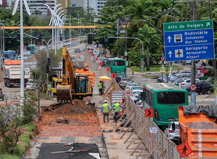 Três estações serão construídas no trecho 3 da obra   Foto: Bruno Concha   Secom - Foto: Bruno Concha   Secom