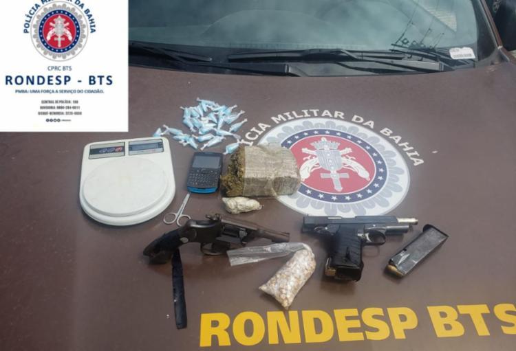 Drogas e armas foram apreendidas na ação - Foto: Divulgação | SSP-BA