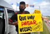 Manifestação de lojistas pede pela reabertura do comércio em Salvador | Foto: