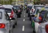 Após morte de PM, policiais fazem carreata e congestionam a Paralela | Foto: Olga Leiria | Ag. A TARDE
