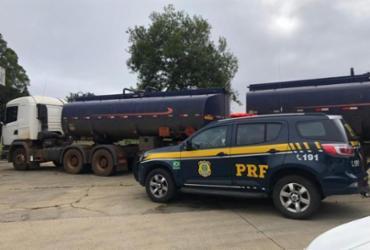 PRF apreende caminhão-tanque com carga irregular em Vitória da Conquista | Divulgação | PRF