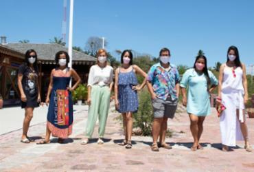 Sibele, Sheila, Ronize, Vanessa, Joelma, Mamá e Amélia: emprendedoras da Ilha dos Frades - Rodolfo Lara | Divulgação