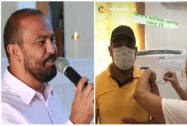Prefeito de Wenceslau Guimarães fura fila da vacina contra a Covid-19 | Reprodução
