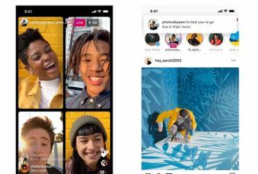 Instagram lança recurso 'Salas ao Vivo' que permite 4 pessoas transmitindo em live | Divulgação