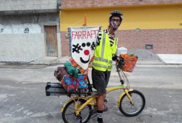 Espetáculo Farrapo Palhaciclista promete diversão com acessibilidade na web | Foto: Reprodução