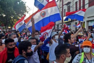 Por falta de vacinas, Paraguai tem 2ª noite de atos contra presidente | Reprodução
