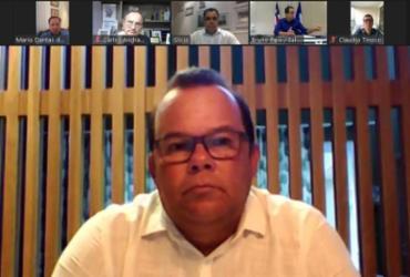 Bruno Reis e Geraldo Júnior debatem com empresários ações de combate à pandemia | Reprodução