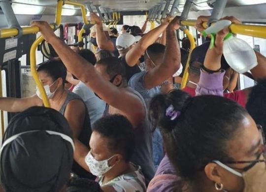 Passageiro denuncia aglomeração em ônibus; Semob vai acompanhar situação | Divulgação | Cidadão Repórter