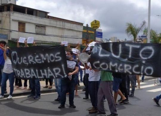 Comerciantes protestam contra prorrogação de medidas restritivas em Salvador | Cidadão Repórter
