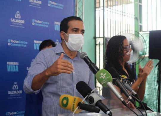 Bruno Reis afirma que sistema de saúde está em 'pré-colapso' e apela para cumprimento de restrições | Olga Leiria | Ag. A TARDE
