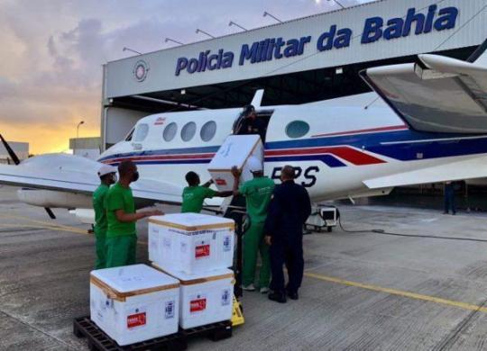 Bahia recebe mais de 165 mil doses da vacina contra a Covid-19 | Divulgação | Sesab