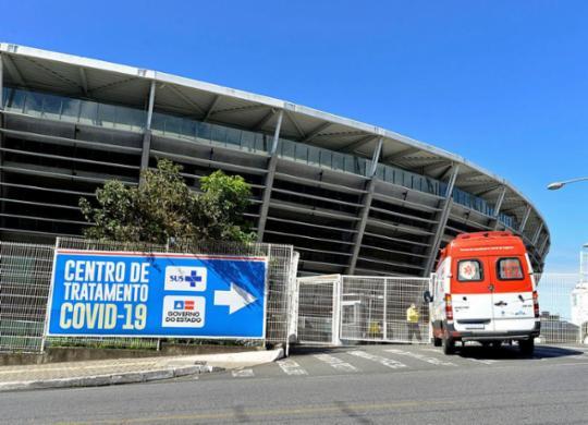 Hospital de campanha na Arena Fonte Nova retoma atendimentos | Shirley Stolze | Ag. A TARDE