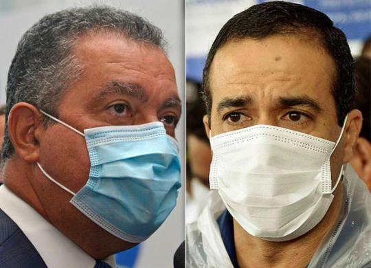 Rui Costa e Bruno Reis criticam promessas de Doria sobre antecipação de imunização | Shirley Stolze | Ag. A TARDE e Valter Pontes | Secom