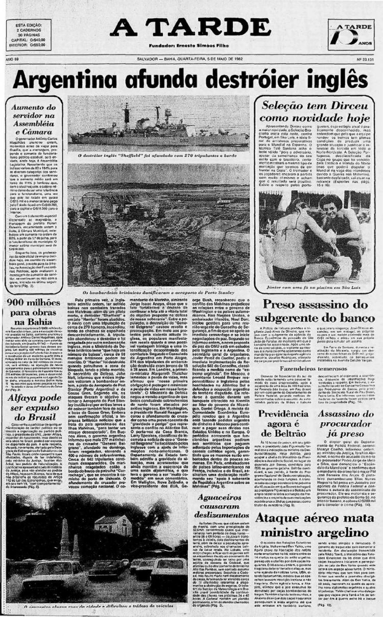 Capa de 1982 sobre a ameaça da expulsão    5.5.1982