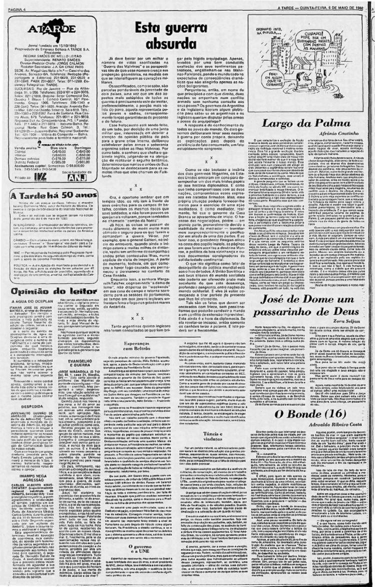 Nota publicada no espaço do editorial    8.5.1982