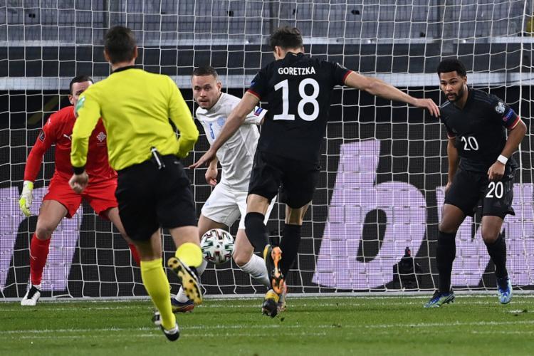 Leon Goretzka abriu o placar para a seleção alemã | Foto: Ina Fassbender | AFP - Foto: Ina Fassbender | AFP