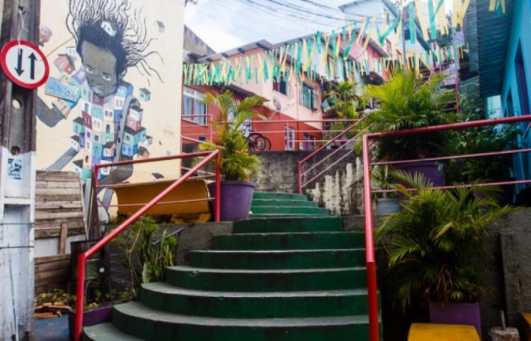 A escadaria do Candeal é uma das atrações da localidade