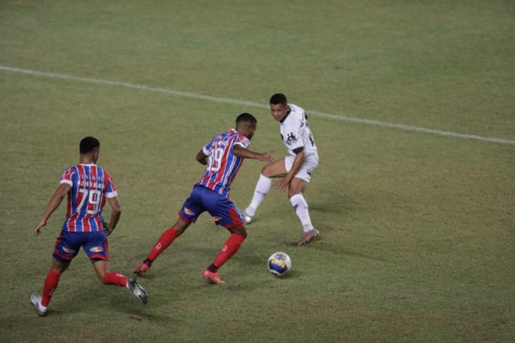 Bahia empatou em 1 a 1 com o Botafogo-PB em Pituaçu - Foto: Adilton Venegeroles / Ag. A Tarde
