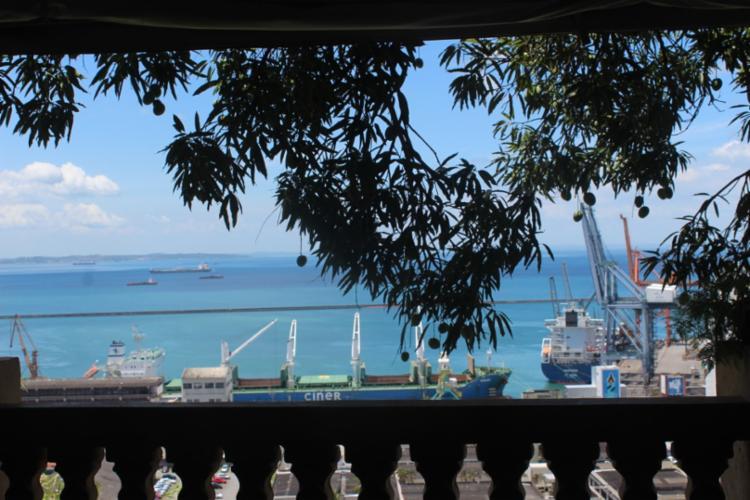 Vista da varanda para a Baía de Todos os Santos