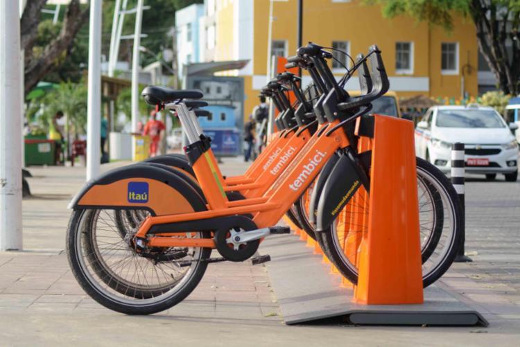 Basta aproximar o celular em um dos 49 postos disponíveis para usar bicicletas   Foto: Jefferson Peixoto   Secom - Foto: Jefferson Peixoto   Secom