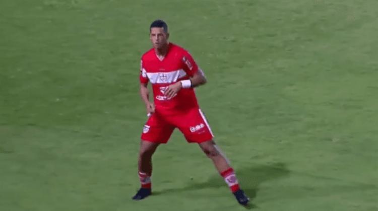 O protagonista alvirrubro no Rei Pelé foi Lucão do Break, autor dos dois gols da partida   Foto: Reprodução   Nordeste FC - Foto: Reprodução   Nordeste FC