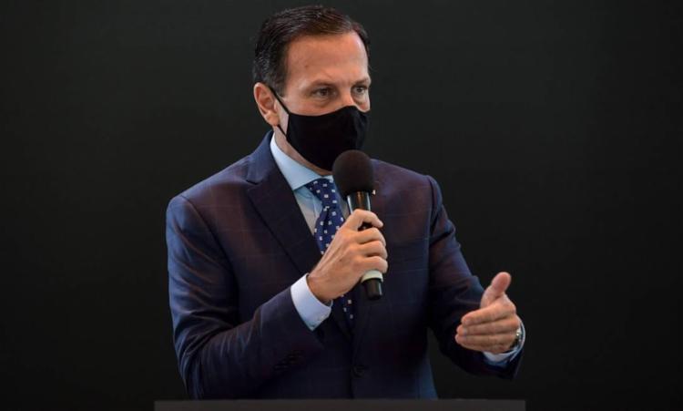 Doria disse que negacionistas da pandemia estão ameaçando a segurança da família dele e se manifestando agressivamente na porta de sua residência. Foto: AFP - Foto: AFP