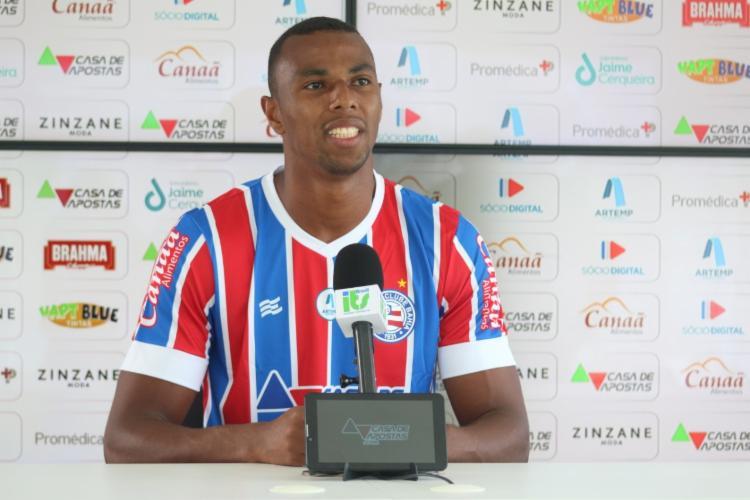 Zagueiro foi apresentado oficialmente pelo Tricolor nesta sexta-feira, 26   Foto: Antônio Muniz   E.C.Bahia - Foto: Antônio Muniz   E.C.Bahia