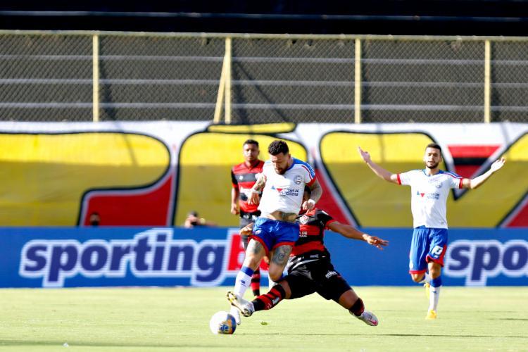 Atacante xingou equipe de arbitragem, segundo a súmula da partida | Foto: Felipe Oliveira | E.C.Bahia - Foto: Felipe Oliveira | E.C.Bahia