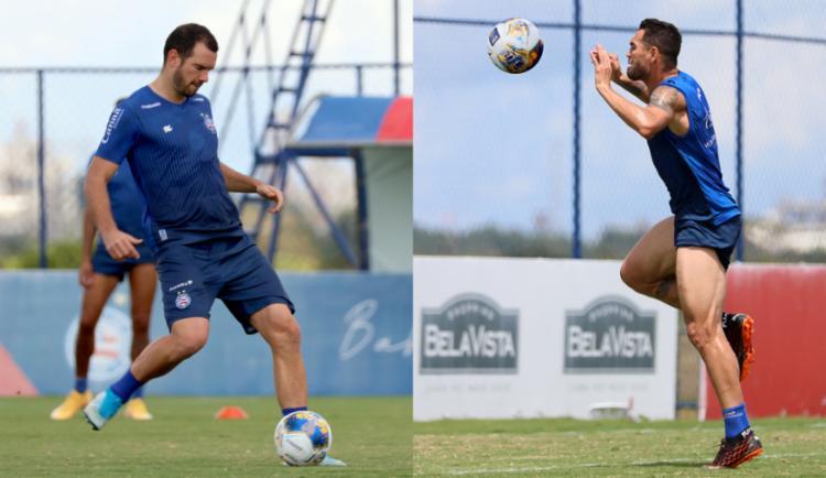 Lucas Fonseca e Gilberto foram os pilares de defesa e ataque, respectivamente, na temporada passada | Foto: Felipe Oliveira | EC Bahia - Foto: Felipe Oliveira | EC Bahia