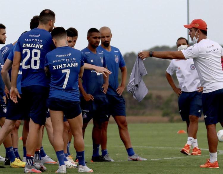 O atleta de 25 anos chega ao Tricolor por empréstimo, cedido pelo Grêmio | Foto: Felipe Oliveira | EC Bahia - Foto: Felipe Oliveira | EC Bahia