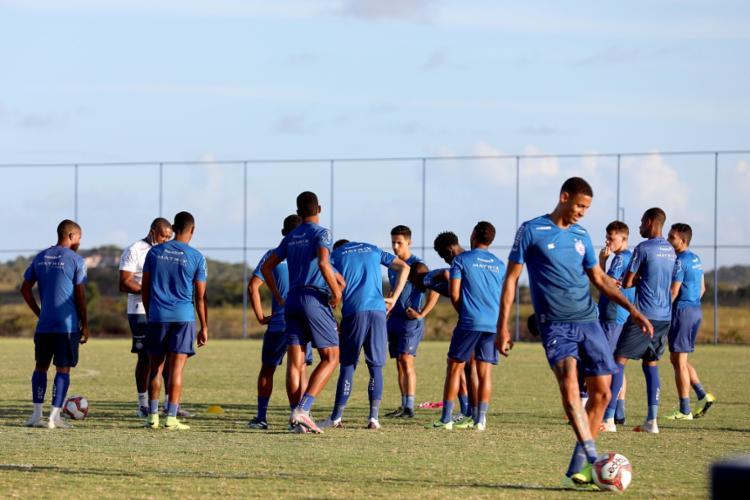 Equipe de transição se prepara no CT Evaristo de Macedo para jogo desta quarta | Foto: Felipe Oliveira | EC Bahia - Foto: Felipe Oliveira | EC Bahia