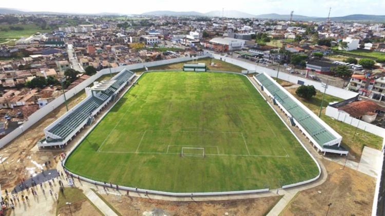 o Estádio Paulo Barreto de Menezes, o Barretão, foi reinaugurado em 2020   Foto: Divulgação - Foto: Divulgação
