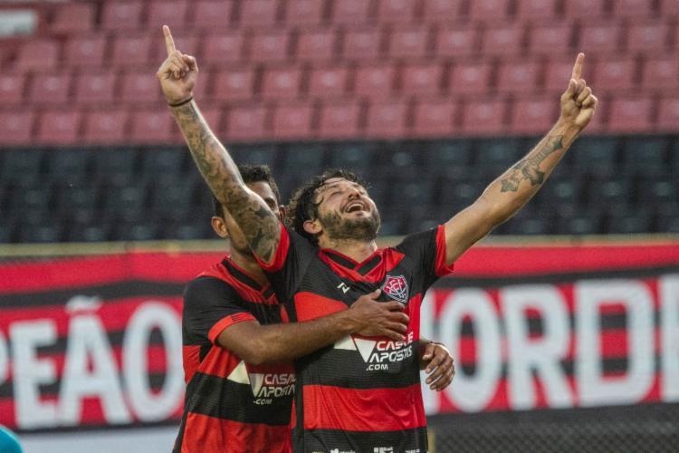 Jogador marcou no duelo contra o Santa Cruz, pela Copa do Nordeste | Foto: Letícia Martins | E.C.Vitória - Foto: Letícia Martins | E.C.Vitória
