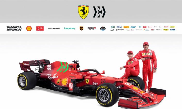 Modelo SF21 com novo motor será pilotado Sainz e Leclerc I Foto: Scuderia Ferrari Press Office - Foto: Scuderia Ferrari Press Office