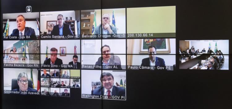 Para chefes de executivos estaduais, a prioridade seria a proteção das pessoas | Foto: Isac Nóbrega | PR - Foto: Isac Nóbrega | PR