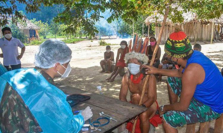 Região amazônica, onde vivem 60% dos indígenas brasileiros, é onde menos chega vacina para essas populações | Foto: Divulgação | Ministério da Defesa - Foto: Divulgação | Ministério da Defesa