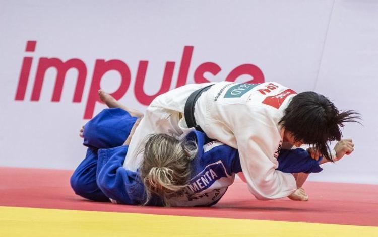 Larissa Pimenta vence três lutas, mas cai para campeã mundial na semi | Foto: Sabau Gabriela | IJF - Foto: Sabau Gabriela | IJF