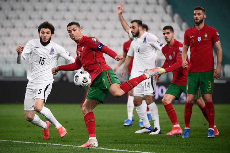 Cristiano Ronaldo desperdiçou chances de gol e passou em branco | Foto: Marco Bertorello | AFP - Foto: Marco Bertorello | AFP